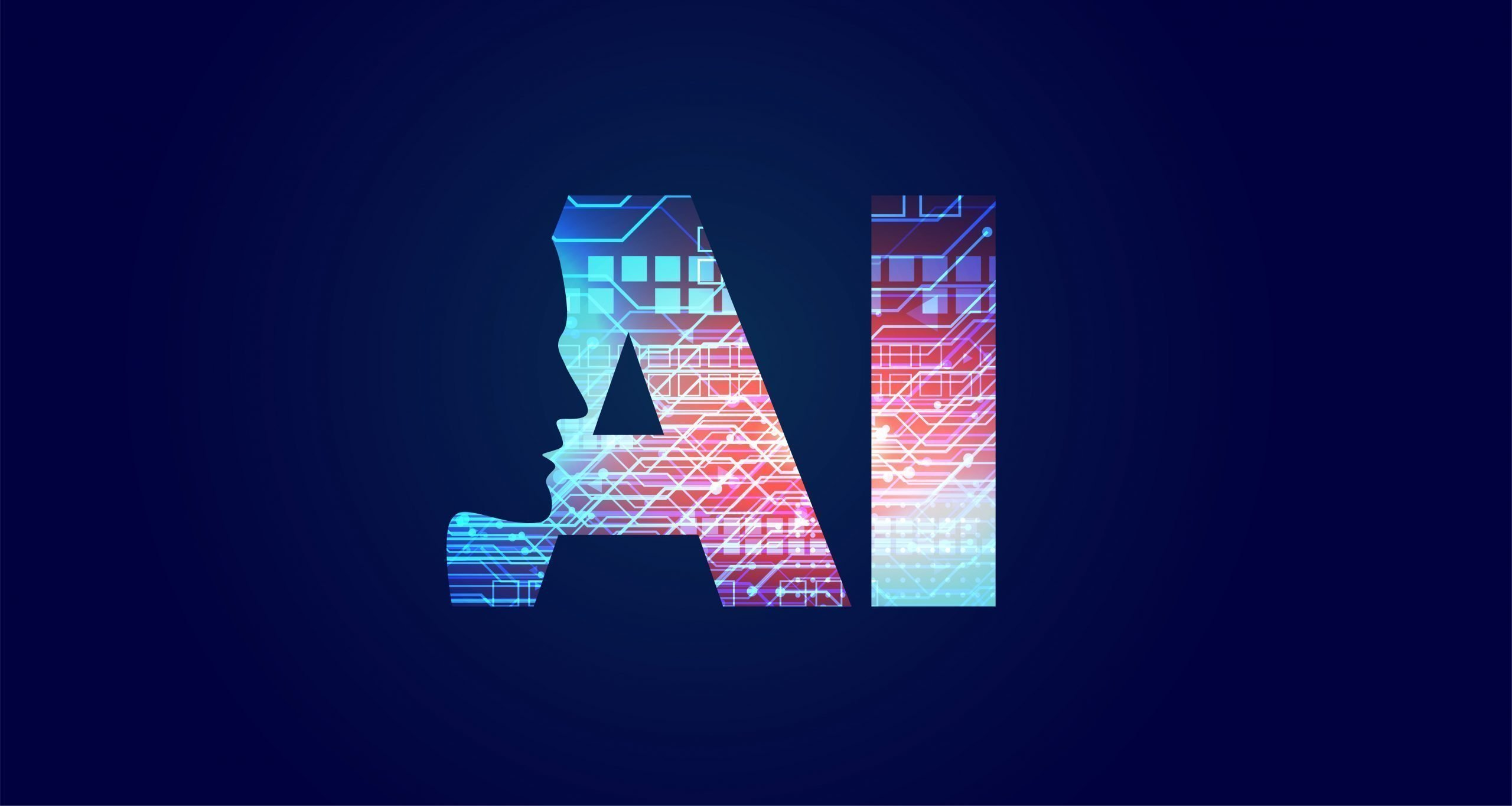 artificial intelligence concept design with face